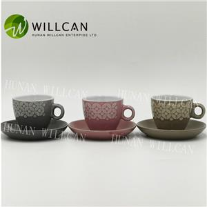 Reactive Glaze Coffee Cup And Saucer Set