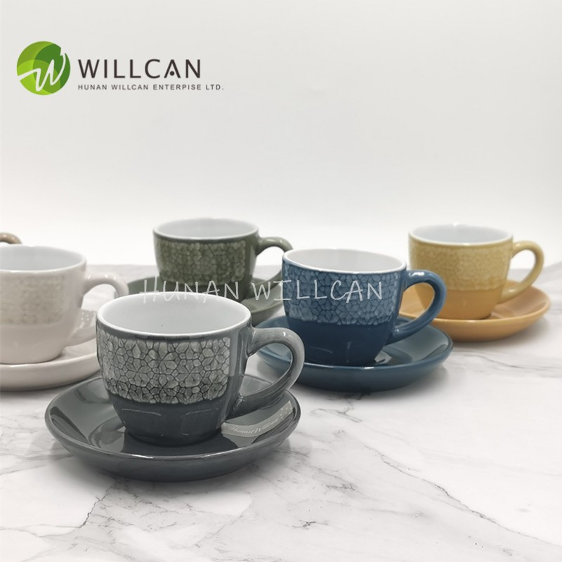 Cool Reactive Glaze Coffee Cup And Saucer Set Manufacturers, Cool Reactive Glaze Coffee Cup And Saucer Set Factory, Supply Cool Reactive Glaze Coffee Cup And Saucer Set