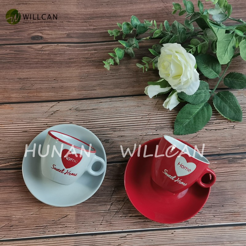 Sweet Home Hand Painted Coffee Cup And Saucer Manufacturers, Sweet Home Hand Painted Coffee Cup And Saucer Factory, Supply Sweet Home Hand Painted Coffee Cup And Saucer
