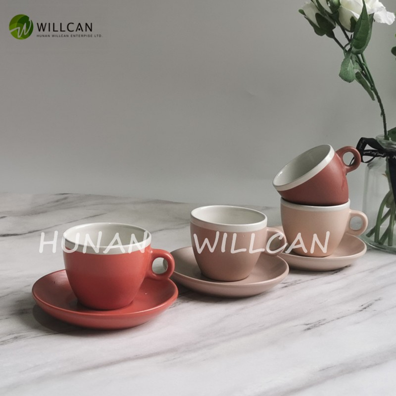 Matt Glazed With White Lip Coffee Cup And Saucer Manufacturers, Matt Glazed With White Lip Coffee Cup And Saucer Factory, Supply Matt Glazed With White Lip Coffee Cup And Saucer