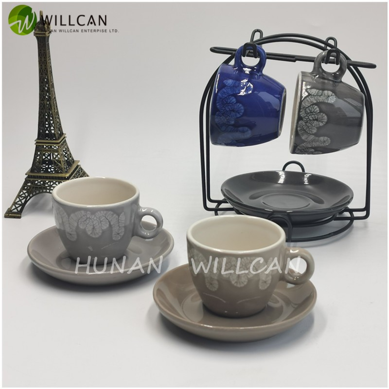 Simple Reactive Glaze Coffee Cup And Saucer Manufacturers, Simple Reactive Glaze Coffee Cup And Saucer Factory, Supply Simple Reactive Glaze Coffee Cup And Saucer