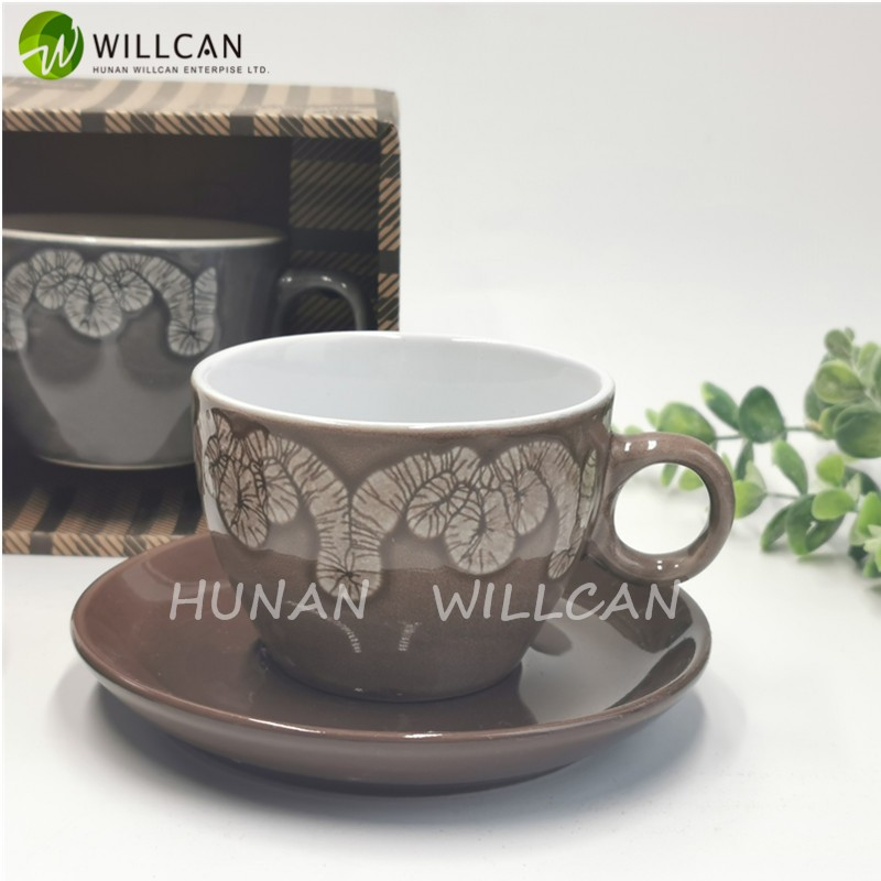 Simple Reactive Glaze Tea Cup And Saucer Manufacturers, Simple Reactive Glaze Tea Cup And Saucer Factory, Supply Simple Reactive Glaze Tea Cup And Saucer