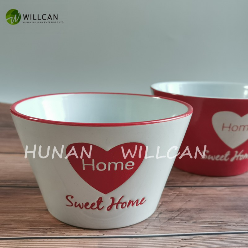 Sweet Home Hand Painted V Shaped Bowl