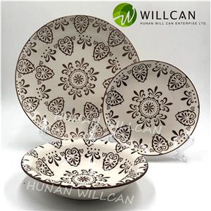 Pad Printing Underglazed Dinner Set