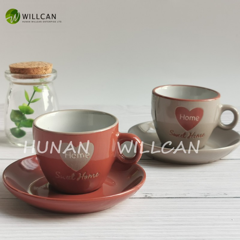 cup and saucer set with stand