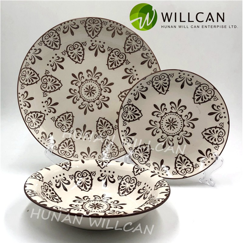 rustic pottery dinnerware sets