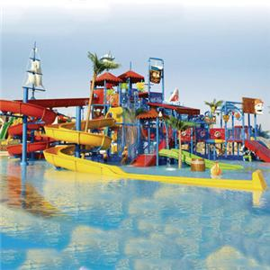 Water park playground equipment large water house with slide fiberglass