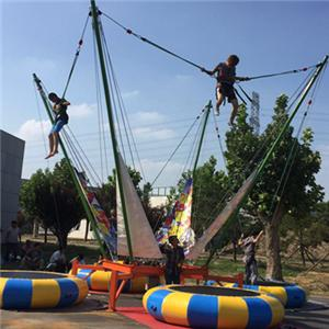 4 persons amusement bungee jumping ride for kids