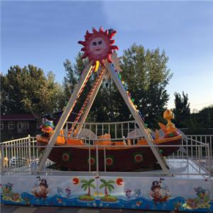Outdoor playground equipment swing boat pirate ship for kids