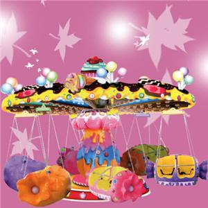 Amusement equipment candy flying chair kids carousel for sale