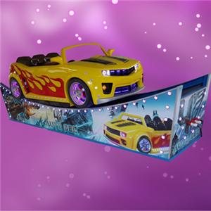 Outdoor play equipment flying car rotation ride yellow auto bee racing car