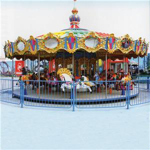 Popular fairground amusement carousel ride merry go round for sale