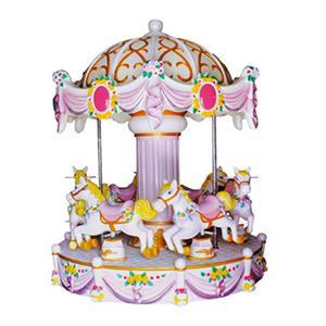 Indoor amusement merry go round 6 seats Europe mini carousel