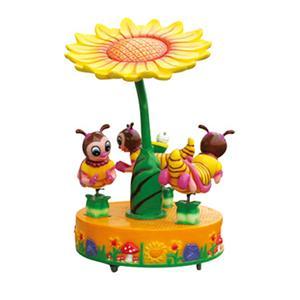 Luxury mini honeybee carousel electric merry-go-round for amusement park