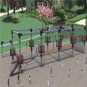 Children outdoor climbing slide playground equipment with rope net