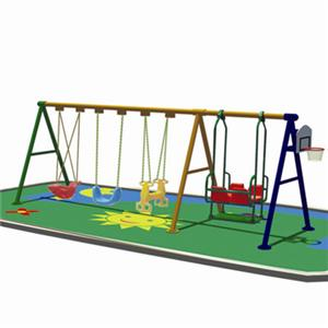 Residential amusement equipment Swing combination for sale