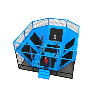 Professional park Kids indoor Round trampoline bed with safe net