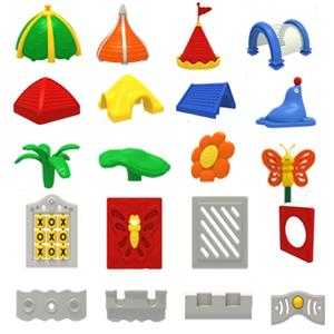 Indoor play set plastic parts for playhouse