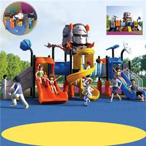 Amusement park outdoor playground equipment plastic slides for kids