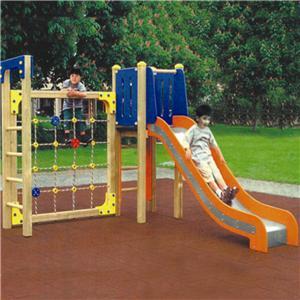Children Natural outdoor Playground slide and climb home slides
