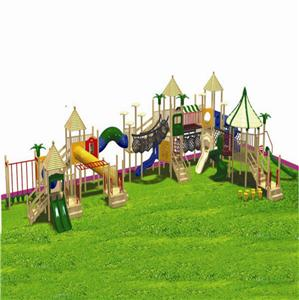 Commercial Nature children plastic Playground Equipment playhouse and slides