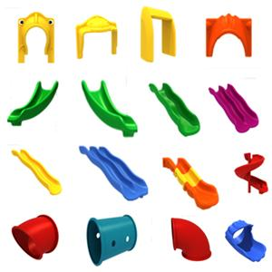 Assemble plastic blocks slide parts for indoor play ground