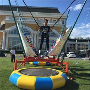 Amusement equipment single person bungee jumping trampoline for adult