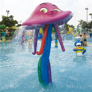 Attractive fiberglass Jellyfish water spray for water park