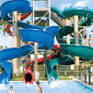 Water park equipment big fiberglass water slides spiral tube for sale