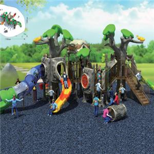 Children amusement park plastic slide for outdoor use
