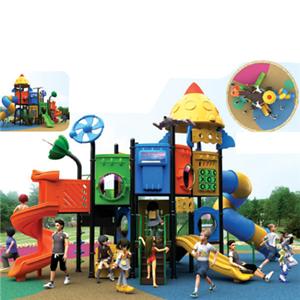 Outdoor playground garden plastic slide for kids