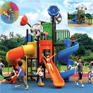Children used outdoor playground plastic slide for sale
