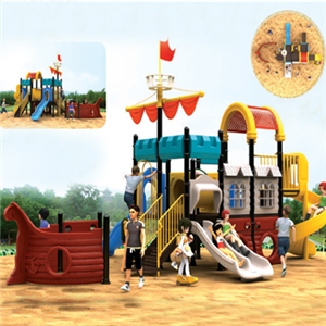 Pirate ship theme park children outdoor playground slide for sale
