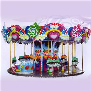 Hot sale kids amusement park equipment amusement park equipment mini carousel small merry-go-round