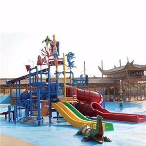 Theme water park equipment fiberglass kids water house with slides