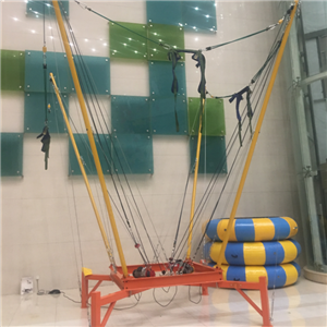 Indoor bungee jumping trampoline 4 persons for kids