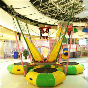 Hot sale Indoor bungee jumping equipment trampoline price