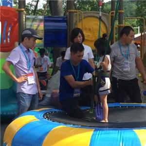 Amusement 2 in 1 bungee jumping ride for kids