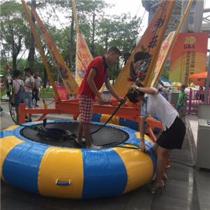 Euro single bungee trampoline small jumping ride for adult&kids