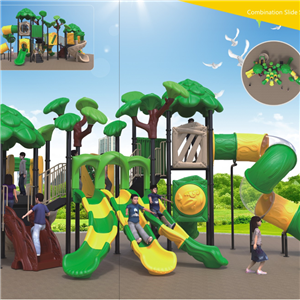 Children park outdoor playground plastic slide with cheap price