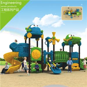 Factory price kindergarten plastic slides for kids outdoor play