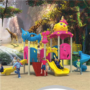 Professional manufacture plastic slide for children outdoor playground