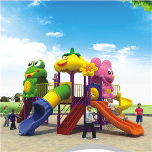 Funny kids plastic slide for outdoor playground