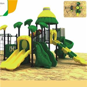 Popular children use plastic slide for outdoor playground