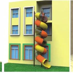House series kids spiral tube slide for outdoor use