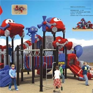 New design outdoor playground equipment plastic slide for kids