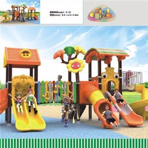 Commercial outdoor playground equipment plastic kids slide for sale