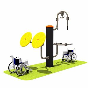 Outdoor double sit disable fitness equipment for adult