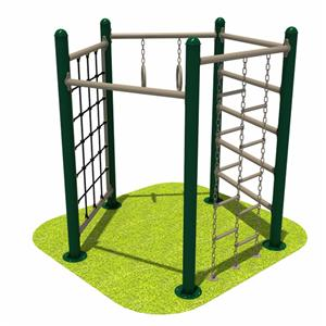 High strength outdoor playground gym fitness equipment