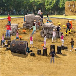 Play and park structures for kids games and fitness